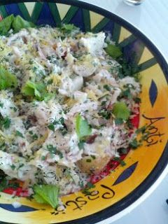 Simple, Healthy and mostly Fast Recipes: Smoked fish and potato salad with sour cream and horseradish dressing