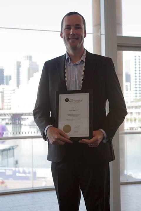 ACT Best Practice Award winner David Rae. Congrats!