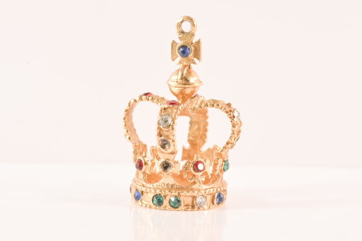 Large Gold Crown Charm