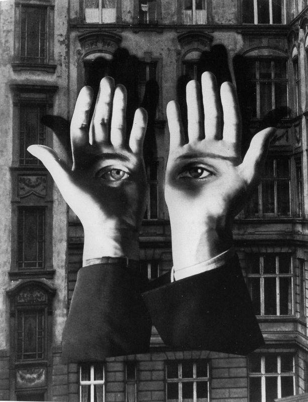 Bauhaus - Herbert Bayer Photomontage. This image shows how collage techniques can be combined seamlessly to produce a final image.