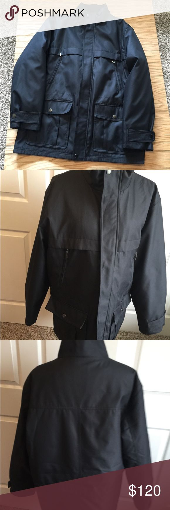 New Men's MK Black Lined Coat L Excellent clean condition authentic Michael Kors men's heavy coat with removable lining  Size large Michael Kors Jackets & Coats