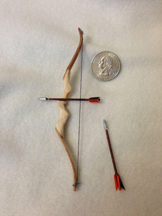 Miniature Modern Recurve Bow Archery 1/6 Scale by VickieBeadia, $40.00