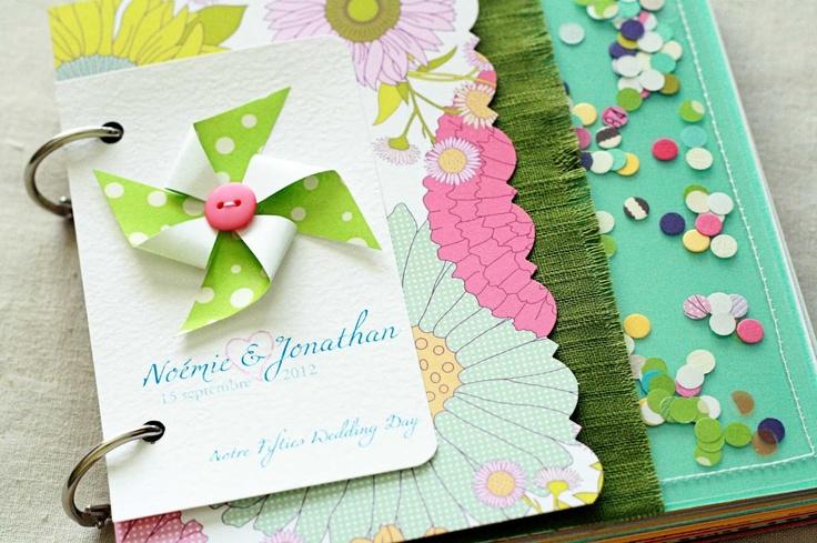 Custom Wedding Book: Fresh and Colorful