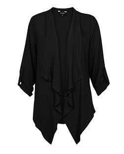 Black (Black) Black Waterfall Jacket | 314871301 | New Look