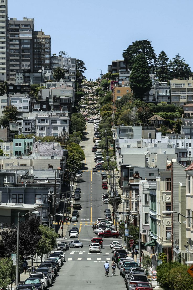 La fameuse rue de Lombard Street à San Francisco