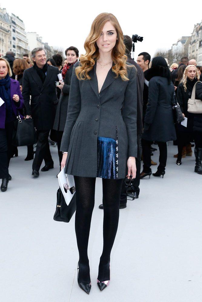 Los desfiles y looks top de la semana de la moda en París: Chiara Ferragni en Dior