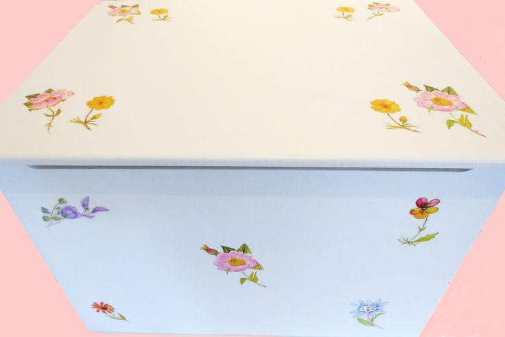 Delicate hand painted toy box with space on lid for us to personalise.  It's a floral Easter.. sarahsherrington.com