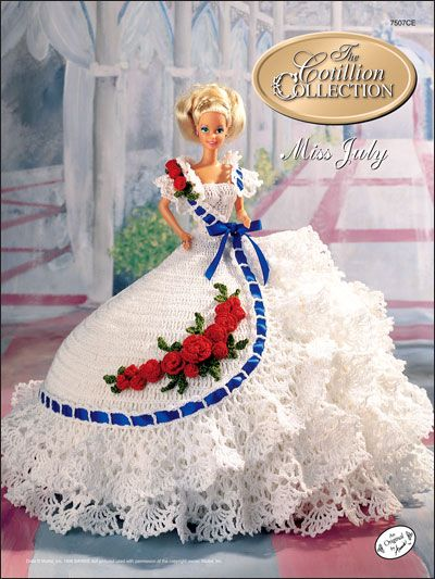 The Cotillion Collection Miss July 1992 on this site there are a ot I like as I say I don't sell I make and donate to kids in need not just toys all things and for the moms that's easy but need more items for free cant afford to buy so I ask for help please