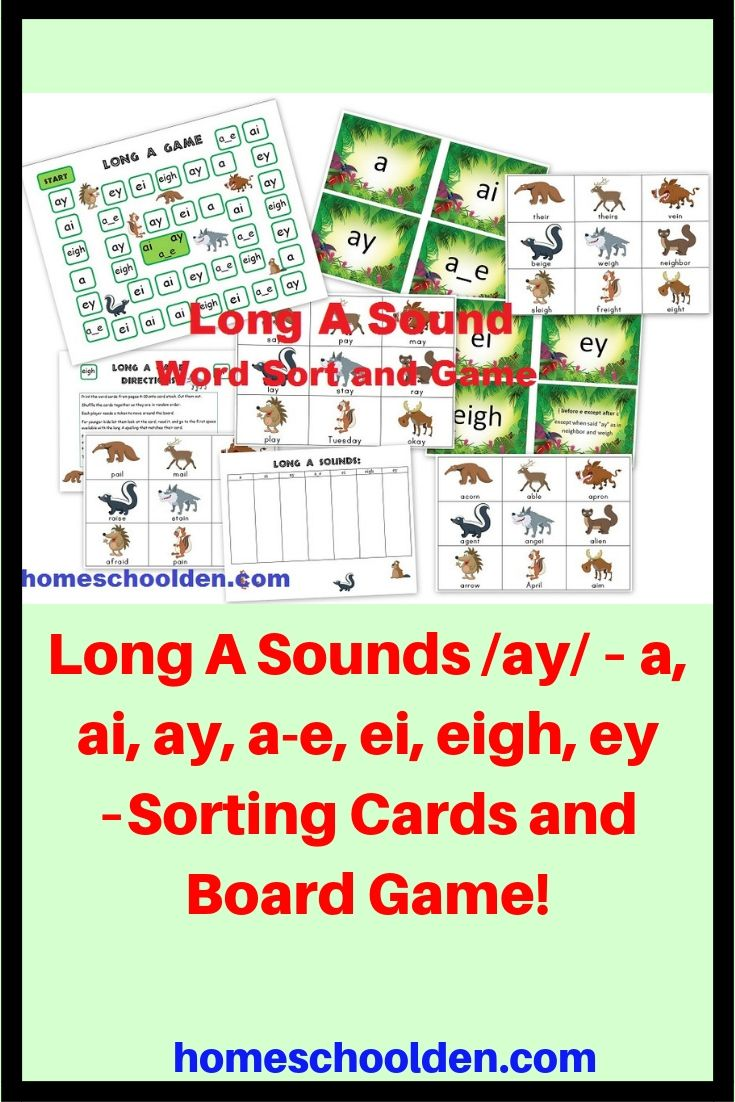 hight resolution of Long A Sounds /ay/ – a
