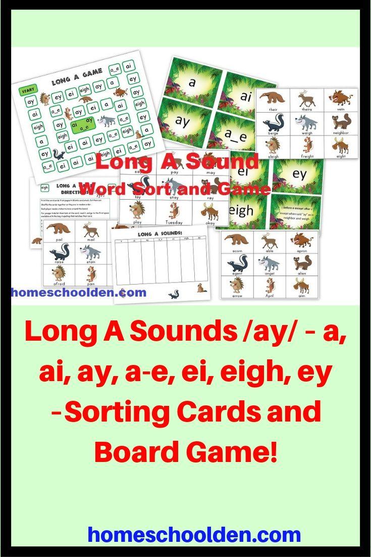 medium resolution of Long A Sounds /ay/ – a