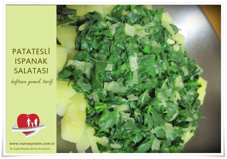 http://www.nutrasystem.com.tr/?m=Sayfalar&id=273 PATATESLİ ISPANAK SALATASI 5 Servis 1 porsiyonu 153 kalori Malzemeler: 500 gram ıspanak yaprağı 2 orta boy patates (kabuksuz, pişmiş) 1 su bardağı süzme yoğurt 1 yemek kaşığı mayonez 2 diş sarımsak ½ su bardağı portakal suyu Tuz Karabiber