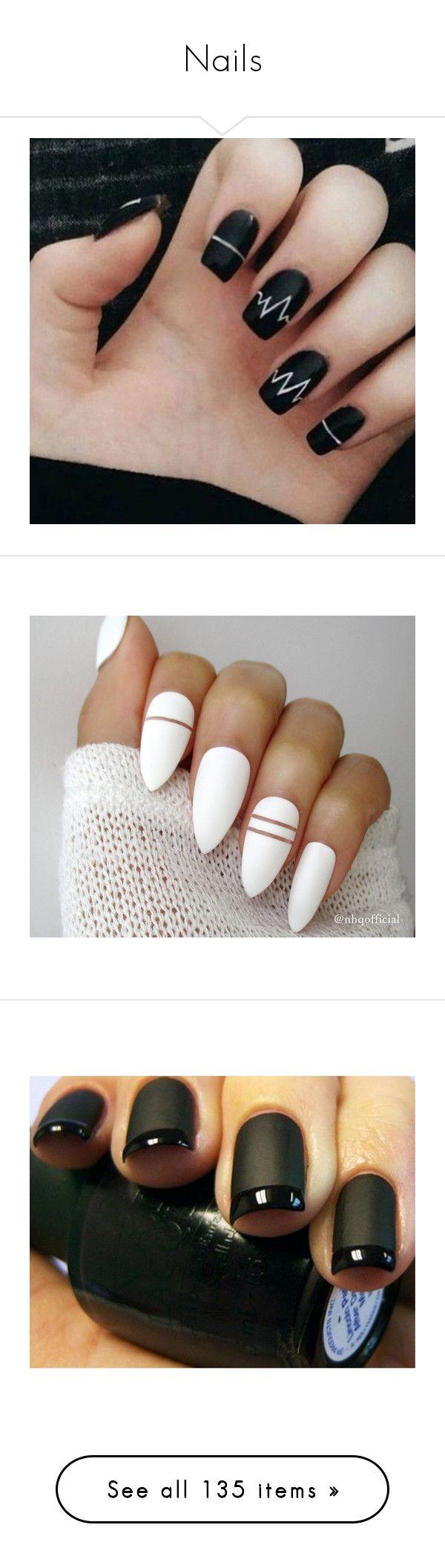 """Nails"" by emo-kyleigh ❤ liked on Polyvore featuring nails, beauty products, nail care, nail treatments, makeup, beauty, nail polish, filler, nail art and lip makeup"