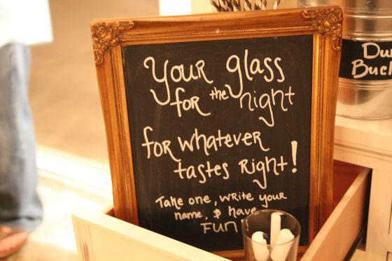 "chalkboard, ""your glass for the night for whatever tastes right"" wine tasting party. #winetasting"