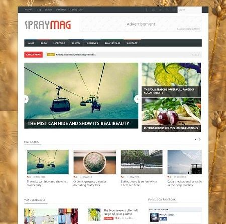 _CTPG_: Template Blogspot - Spraymag - Responsive