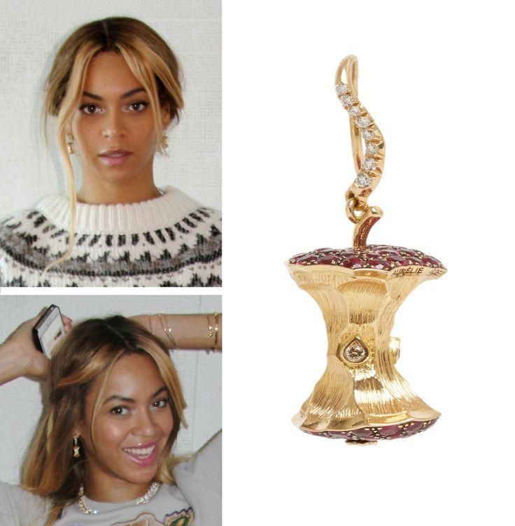 beyonc u00e9 wearing  u0026quot big apple u0026quot  earrings from the fine jewelry line