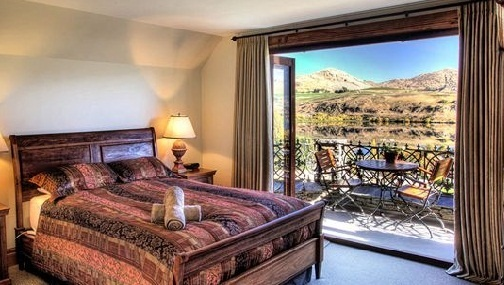 The view from a room at the Stoneridge Estate, Queenstown, New Zealand.