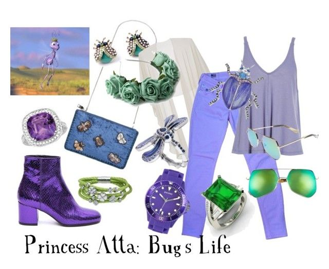 """Princess Atta"" by sugarsop on Polyvore featuring Steve Madden, Gina Bacconi, True Religion, Free People, Paris Texas, Dana Buchman, Lalique, Grey Ant, Crown and Glory and Diamondere"