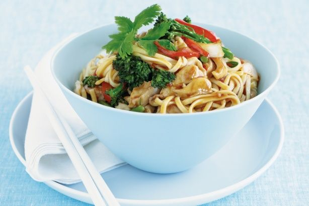 Get out the chopsticks and dive into a bowl of slippery noodles and hoisin chicken.