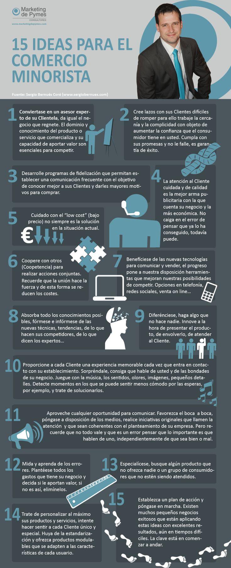 15 ideas para el comercio minorista #infografia #infographic #marketing