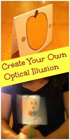 DIY Science - Create your own optical illusion with this easy science experiment - the kids will be AMAZED! #stem