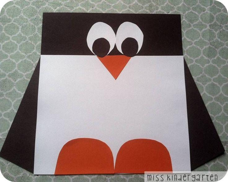 Winter Craft Idea- A.DOR.A.BLE penguin craft nonfiction writing