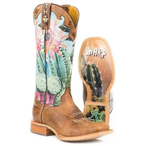 Tin Haul Cactilicious Boots With Looking Sharp Sole Handmade – yeehawcowboy