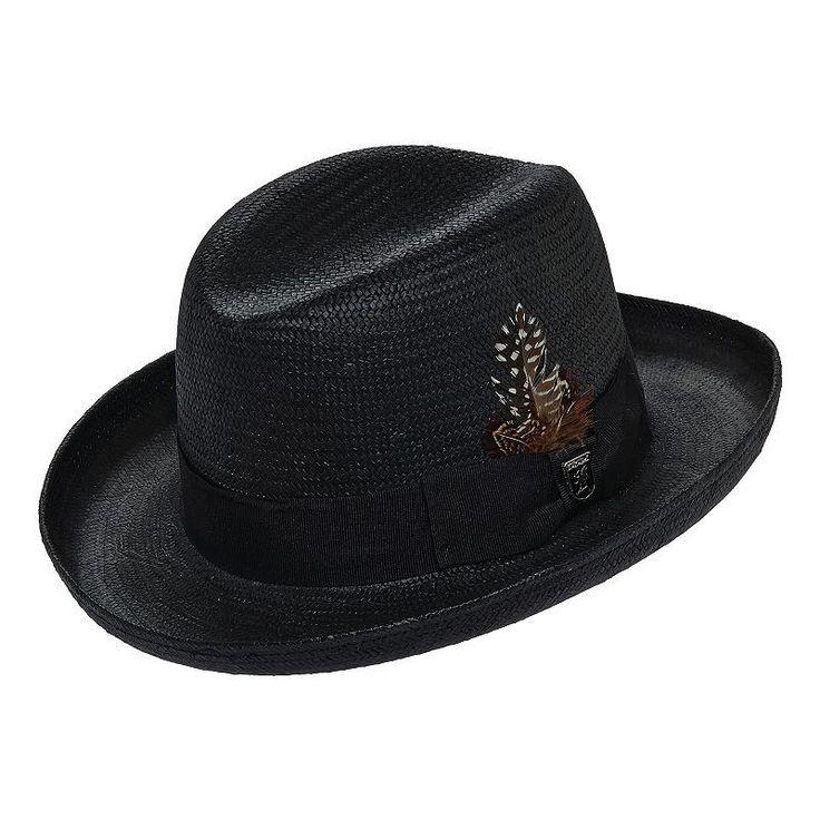 Stacy Adams Toyo Homburg Hat - Men, Size: Large, Black