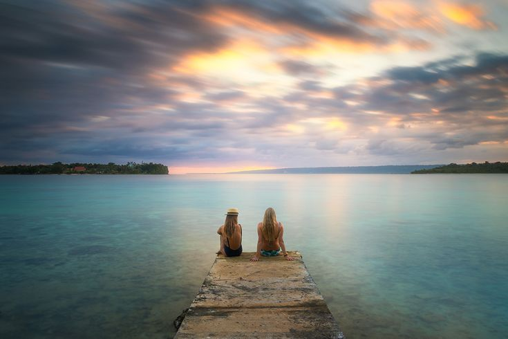 Snorkelers Cove on Iririki Island Resort in Vanuatu is the perfect spot to catch an epic sunset.