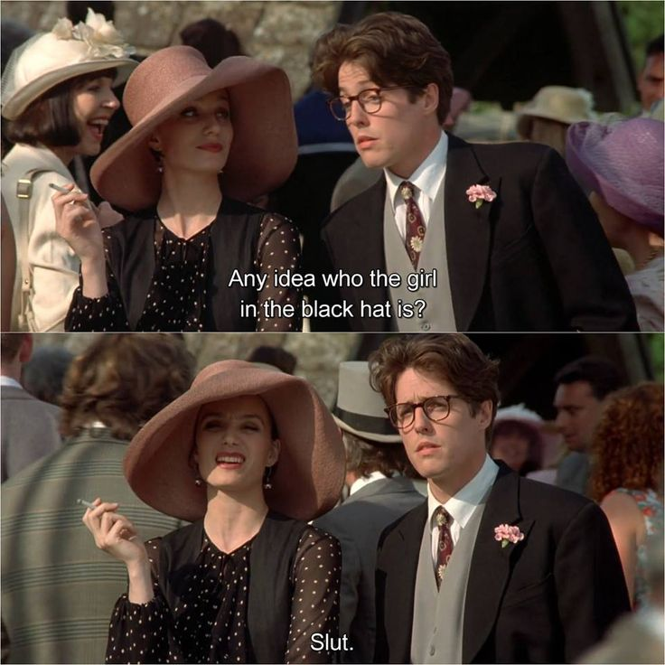Four Weddings and a Funeral (1994)  https://www.facebook.com/1WCW1/ We enjoy good photography and uninspirational quo… | Movies, Romance movies, Famous movie quotes