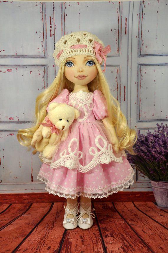 Poupée de textile poupée décorative poupées de par NilaDolss