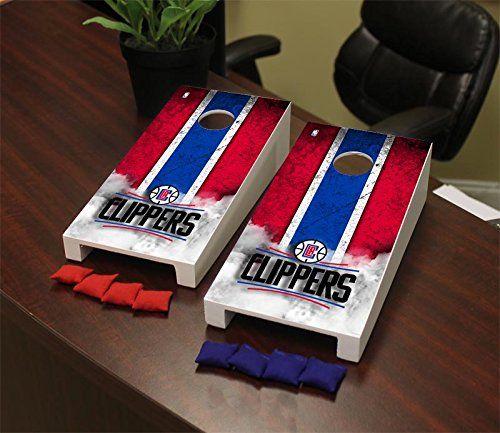 Los Angeles LA Clippers NBA Desktop Mini Cornhole Game Set * Read more  at the image link.
