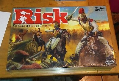 Board Game Risk Hasbro The Game of Strategic Conquest Ages 10 Up 2 to 5 Players
