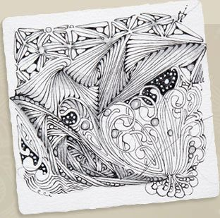 Zentangle - what fun! Meditation by doodle...