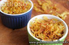 Já pensou em fazer uma batata palha saudável para o #almoço? Isso mesmo super saudável, sem frituras, é a Batata Palha Assada!  #Receita aqui: http://www.gulosoesaudavel.com.br/2015/03/25/batata-palha-assada/