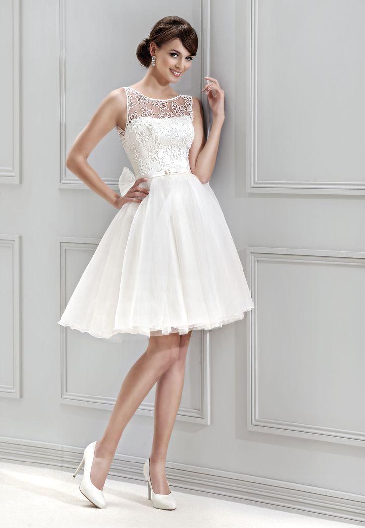 krátké svatební šaty Agnes 11843