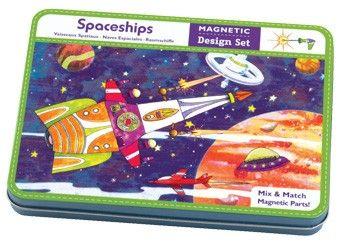 magnetische ruimteschepen om te personaliseren Mudpuppy   kinderen-shop Kleine Zebra