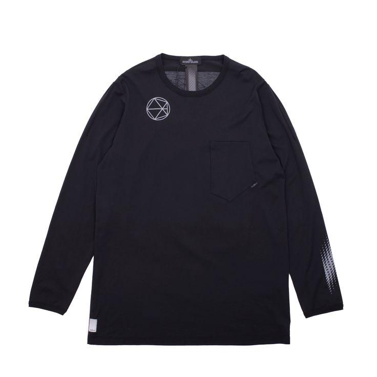 Premium, ultra lightweight Stone Island Shadow Catch Longsleeve Pocket T-Shirt.