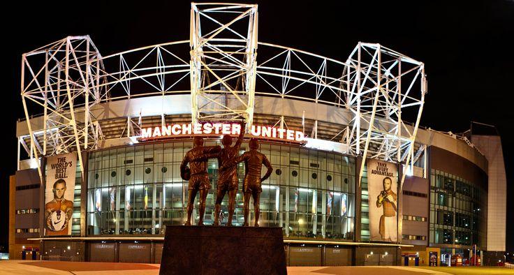 Old Trafford at night