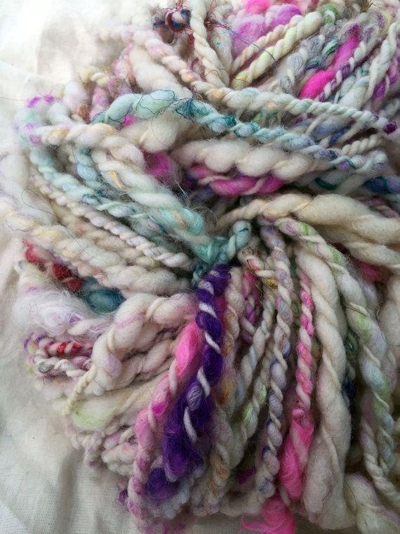 Handspun kunst garen in felle kleuren - twee lgs, superzachte, brei met formaat 17 naalden of hoger - lokale wol, handspun garens