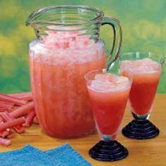 Rhubarb Slush Punch Recipe....had to pin this!! Rhubarb, rhubarb rhubarb....memory lane.