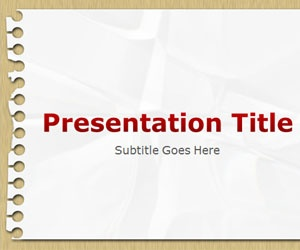 Notepad PowerPoint Template is a free PPT template that you can download for educational purposes