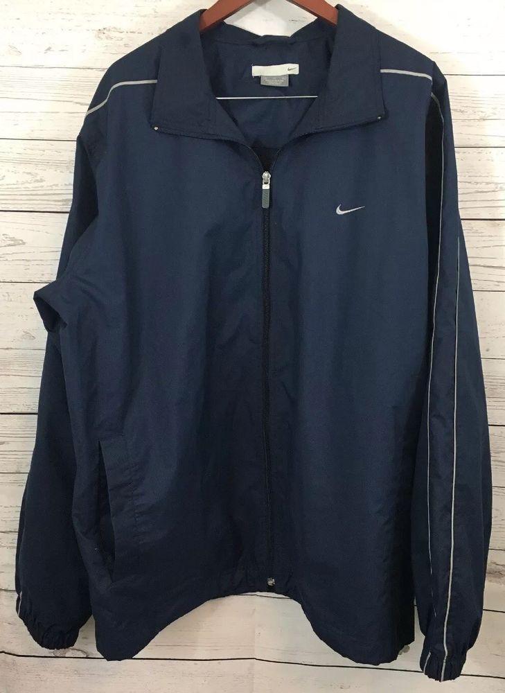 Nike Womens Windbreaker Jogging Jacket Size XL Navy Blue #Nike #Outerwear #Outdoor