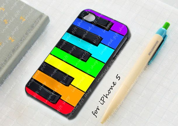 rainbow piano keys - design case for iPhone