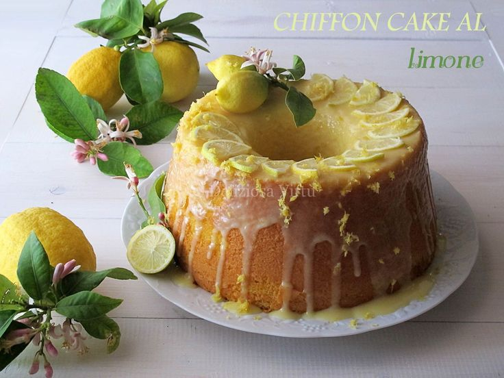 Ciao a tutti! oggi vi propongo uno di quei dolci che più amo, sto parlando della mitica Chiffon cake, un dolce americano estremamente morbido e delicato da sciogliersi in bocca e dal profumo di limone che le da freschezza. Una ciambella alta e soffice anzi sofficissima, si può gustare semplice con una spolverata di zucchero…