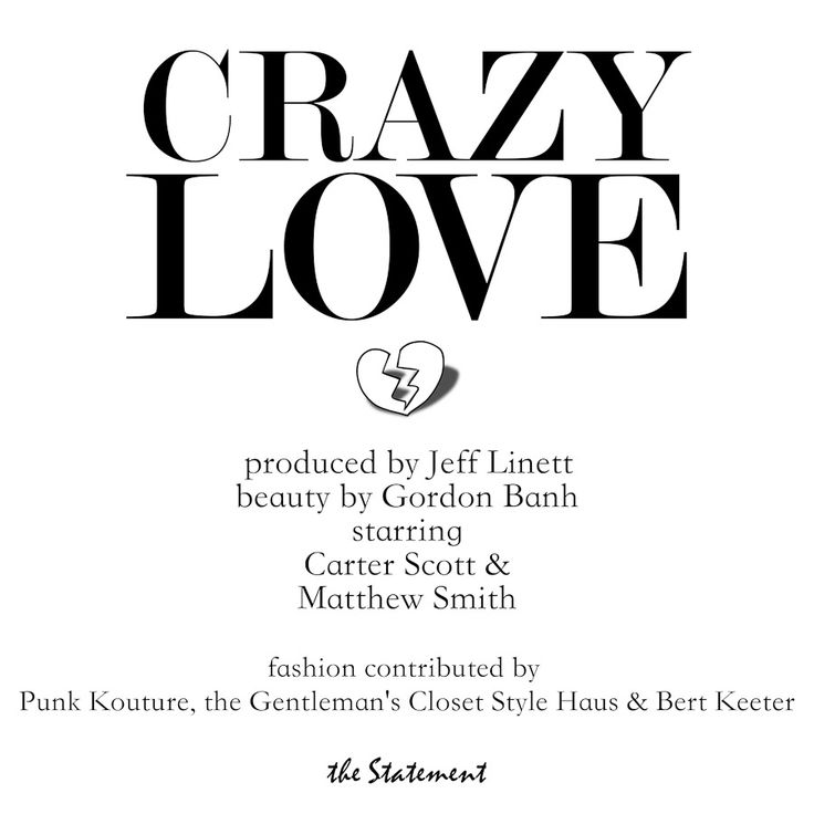 Crazy Love Featured In Agenda Magazine | The Gents Closet