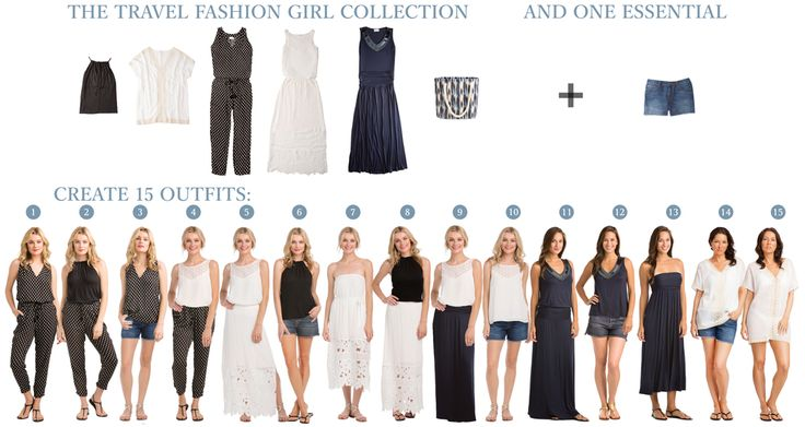 Think traveling with just six clothing items is absolutely impossible? Here's how to do it and create two weeks worth of outfits for a beach vacation. Introducing TFG's 6-Piece Capsule Wardrobe inspired by Vacay Style! #vacay #vacaystyle? @vacaystyle