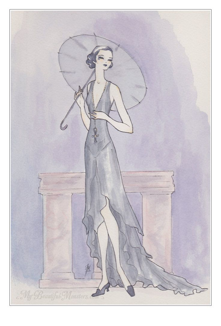 62 best images about mixed media art on pinterest woman for Art deco illustration