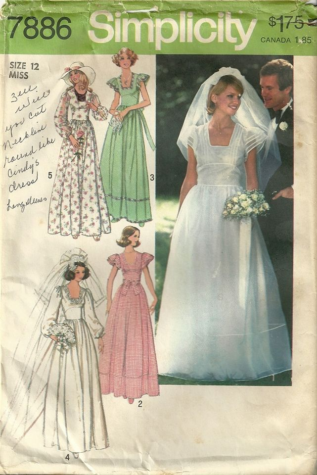 42 best Wedding Sewing Patterns images on Pinterest | Fashion models ...