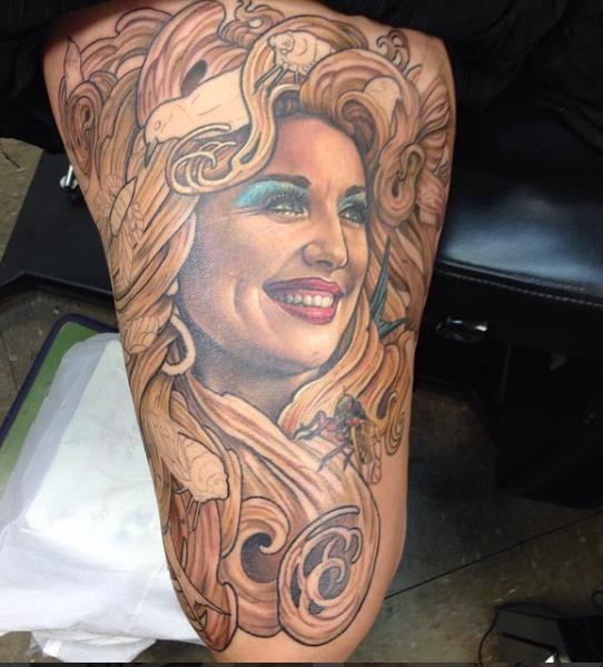 35 Amazing Dolly Parton Tattoos | NSF - Part 3