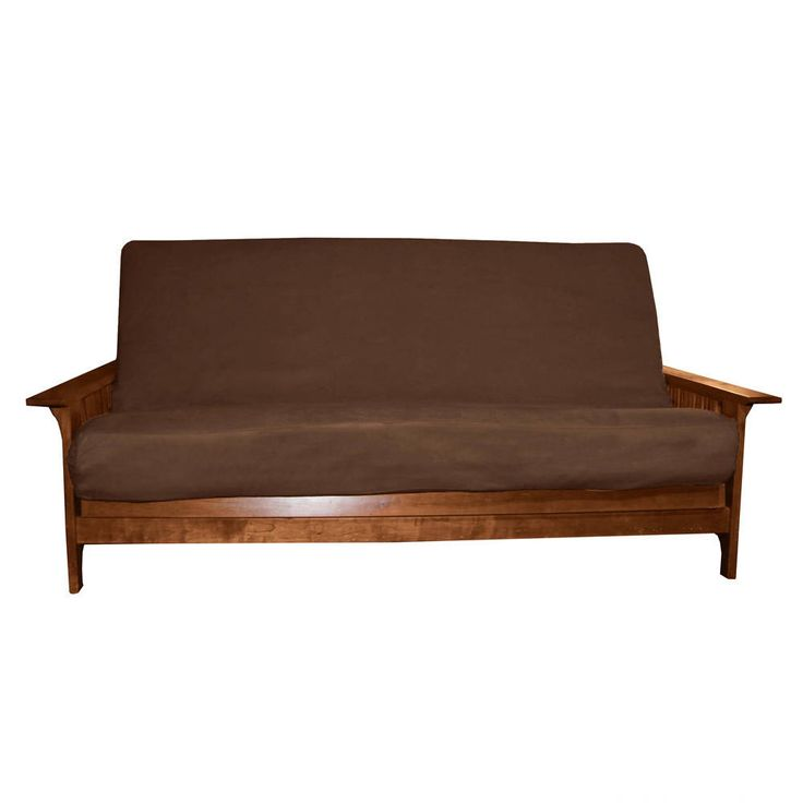 EpicFurnishings Ultima Better Fit Full-size Microfiber Futon Mattress Cover (Suede - Chocolate Brown - 8-inch Loft), Size Full 8